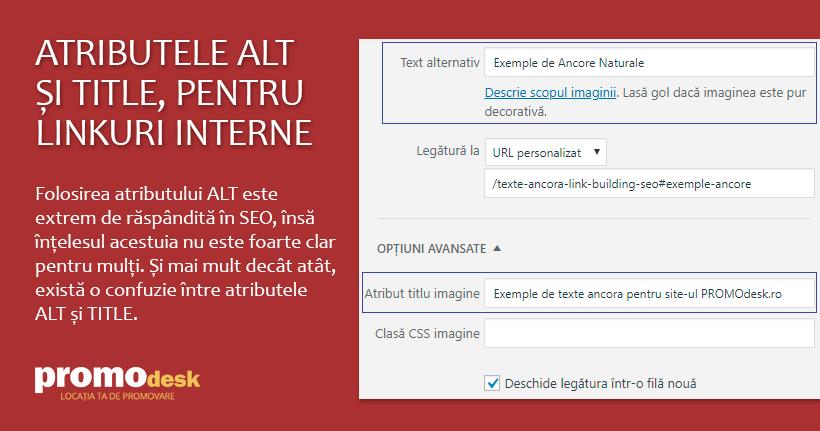 Exemplu de folosire corectă a atributelor ALT și TITLE în WordPress